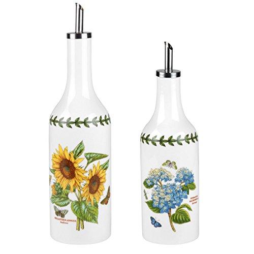 (Portmeirion Botanic Garden Sunflower & Hydrangea Oil & Vinegar Drizzler Set)