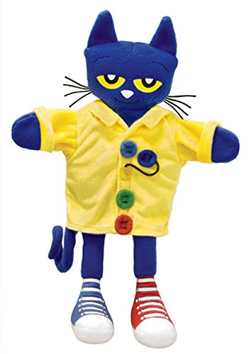 MerryMakers Pete the Cat and His Four Groovy Buttons Hand Puppet, 14.5-Inch