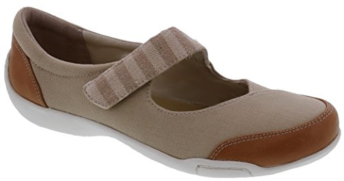 Ros Hommerson Capricorn - Women's Casual Comfort Shoe: Sand 10 Narrow (2A) Velcro