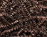 Teschco 1 LB Crinkle Cut Paper - High Quality Shred Filler Perfect for Gift Wrapping & Basket Filling. (Espresso Brown)