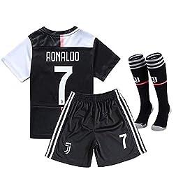 7 Cristiano Ronaldo 19/20 T-Shirt Maillot de Football Short Homme Maillot Soccer Adultes Jersey