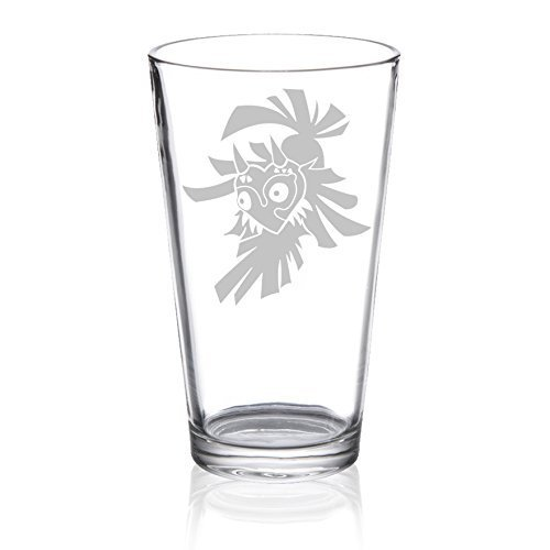 The Legend of Zelda - Skull Kid - Etched Pint Glass