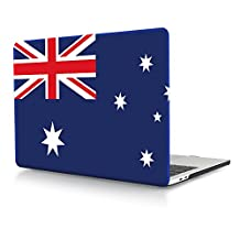 HRH Australian Flag Design Laptop Body Shell Protective Hard Case for New Macbook Pro 13 inch with Touch bar and Touch ID A1706 / without Touch bar A1708 (2016 Version)