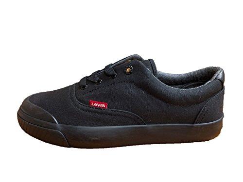 Sneakers Levis Mens Fowler Canvas Nero Mono