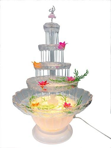 Lighted Plastic Water Fountain For Weddings, Garden, Home, Office, or Cake Centerpiece (20 (Garden Centerpiece)