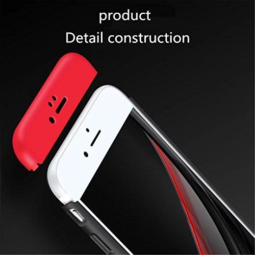 Cover iPhone 5/5S/5SE 360 ° Custodia protettiva ultra sottile Custodia PC Protezione corpo Protezione antigraffio 360 ° Copertura completa 3 in 1.Non apple mark Oro rosa-02 Blu-01