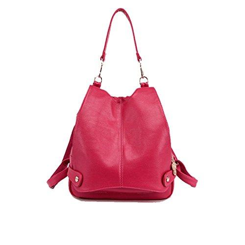 rouge cuir véritable Boutons Rose noir femmes pour Sacs éclair fermeture à en Rouge 4UvWg