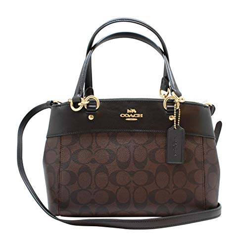 Coach Womens Mini Brooke Carryall Handbag, Signature Crossgrain Leather, Detachable Crossbody Strap (Mini, ()
