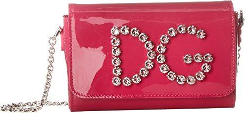 Dolce & Gabbana Kids Women's Patent Leather Shoulder Bag Fuchsia One (Dolce & Gabbana Leather Flats)