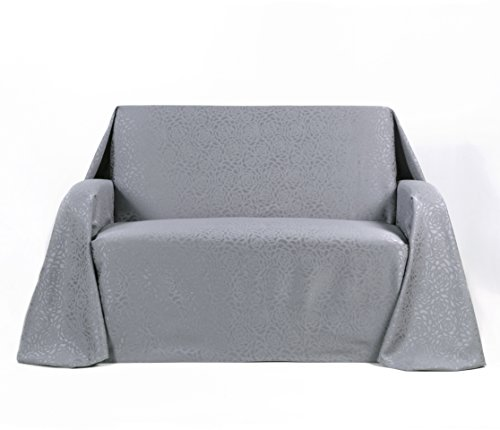 Stylemaster Home Products Stylemaster Rosanna Jacquard Furniture Love Seat Throw, Chrome