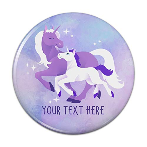 - Personalized Custom 1 Line Magical Mom Unicorn and Baby Kitchen Refrigerator Locker Button Magnet - 2.25