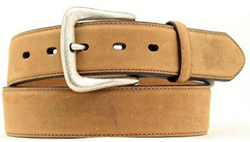 Nocona Belt Co. Men's Distressed No Billet, Medium Brown, 38