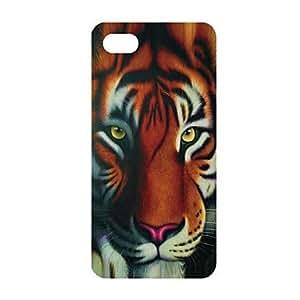 GX El patrón del tigre poderoso PC de nuevo caso para el iPhone 5