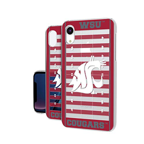 Keyscaper KCLRXR-0WST-VFLD01 Washington State Cougars iPhone XR Clear Case with WSU Football Field ()