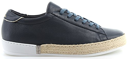 Philippe Model Zapatos Sneakers Hombre Paris Mer Lu Veau Bleu Blu New Made Italy
