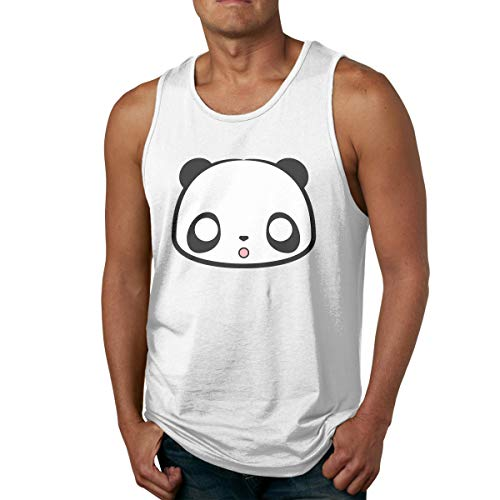 Men's Tank Tops Gym Vests Shirt Cute Panda Bodybuilding Workout Vest 32 -