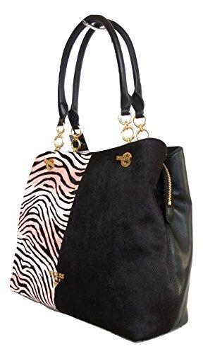 GUESS luxe borsa donna a spalla modello HWLEIZL7404-PMT nero pelle