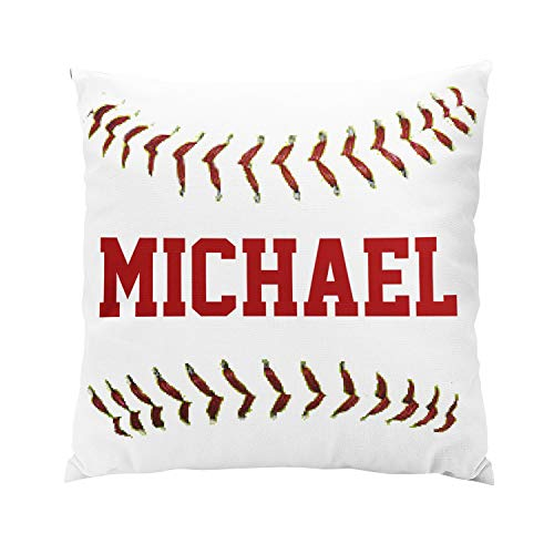 - Skully Fancy Square Personalized Baseball Hidden Zipper Home Sofa Decorative Throw Pillow Cover Cushion Case 16x16 Inch Two Sides Design Printed Pillowcase