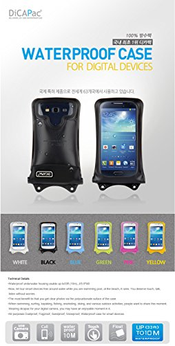 """DiCAPac t?l?phone cellulaire intelligent sous-marine Sport Outdoor Case Sac ?tanche WP-C1 Rose (3.77 x 5.78 """") avec sangle"""