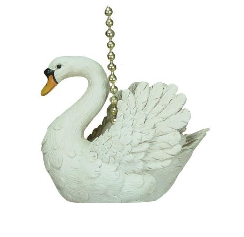 Swan Accent Lamp - White Mute Swan Ceiling Fan Pull Chain by Clementine Designs