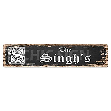 Amazoncom The Singhs Family Name Plate Sign Vintage