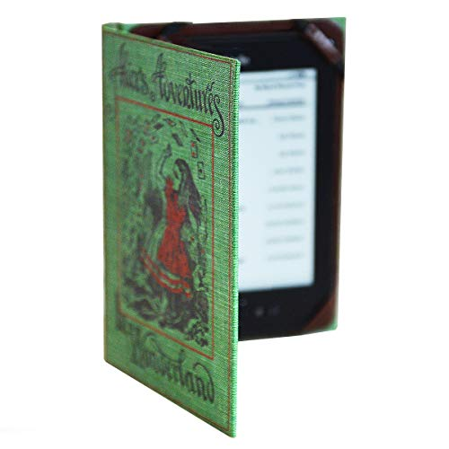 Universal Kindle eReader Case Classic Book Cover (Compatible with Paperwhite 2018) (Alice in Wonderland)