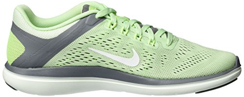 Nike Wmns Flex 2016 Rn, Sneakers para Mujer Varios colores (Verde / Blanco / Fresh Mint / White / Cool Grey / Barely Green)