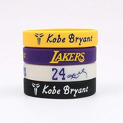 DuDuDu Silicone Wristbands Lakers 24th Signature Wristband Prestige Edition Kobe Basketball sports silicone bracelet hand Strap Pairs Estimated Price £25.99 -