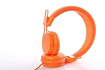 Geeko - Casque audio pliable - Orange