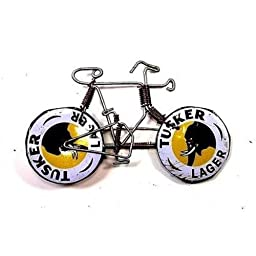 Creative Alternatives Wire Bicycle Pin with Tusker Wheels