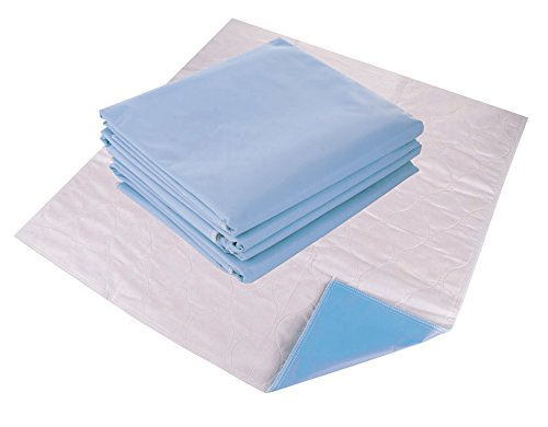 Remedies Washable Bed Pads - Reusable Underpads for Incontinence, Soft and Absorbent Underpad, Large 34 x 36 inches, Pack of 4 (Blue)