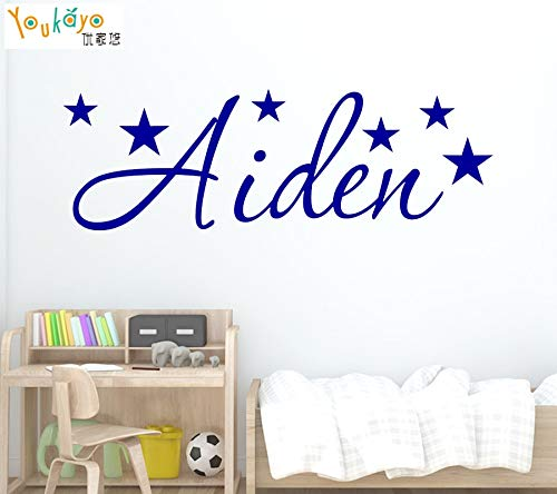 (SeedWorld Wall Stickers - Personalized Name Stars Wall Sticker - Art Decal Boy or Girls Children's Room Kids Rooms 1)