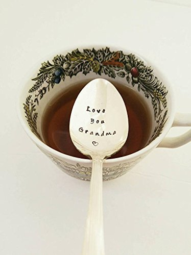 Love You Grandma - Hand Stamped Spoon - Gift For Grandmother - Engraved Spoon