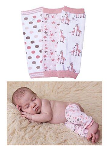 Hugglugs Baby Girl Giraffe Pink Baby Legwarmer Set