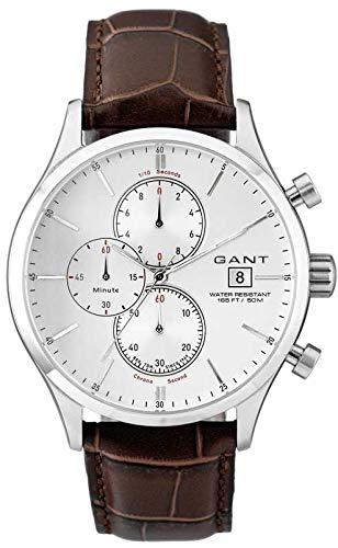 GANT W70402 - Reloj analógico de Cuarzo para Hombre con Correa de Piel, Color marrón: Amazon.es: Relojes
