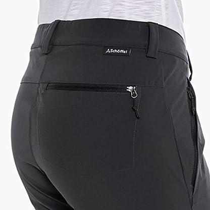 Schöffel Pants Ascona Zip Off, leichte und komfortable Damen Hose mit optimaler Passform, flexible Outdoor Hose für Frauen Damen, asphalt, 40 3