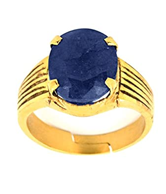 Skyjewels Adult 5 25 Ratti Designer Neelam Astrological Ring In 925