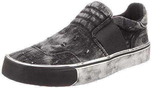 Diesel Men's 355 S-FLIP ON Sneaker, Black, 12 M US