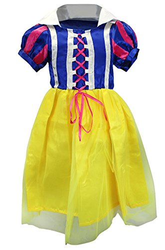 Women's Full Length Snow White Costumes (Enimay Girl's Classic Princess Halloween Costumes Full Length Dresses Snow White Ages: 7-8)