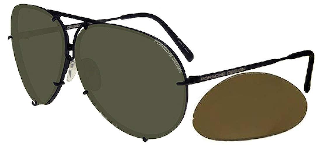 b80b80417574 Amazon.com  Porsche Design P8478 Dark Ruthenium Grey Green SEMI-Mirror  69 10 135 Unisex Sunglasses  Watches