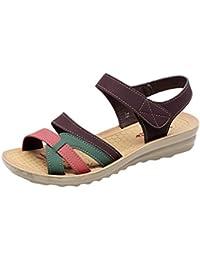 KIKOY Sandals Sale Women Summer Fashion Leather Sandals Wedges Comfort Shoes