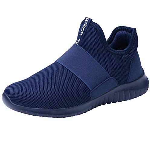 c6177e9398e83 LANCROP Women s Walking Sneakers Lightweight Casual Knit Slip On Tennis  Athletic Running Shoes Blue