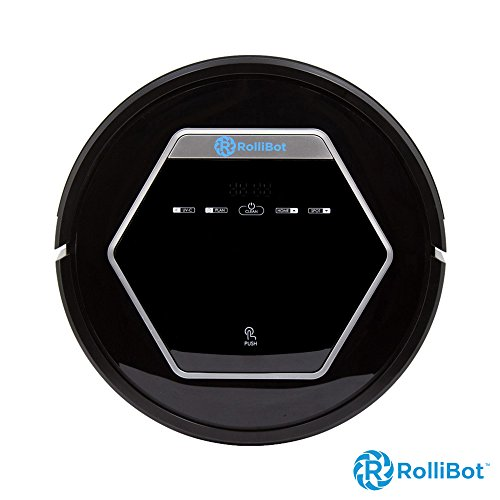Rollibot BL618- Quiet Robotic Vacuum Cleaner. Vacuum's, Sweeps, Mops with UV Light Sterilization for Hardwood, Tile, and Linoleum – Black (Certified Refurbished)