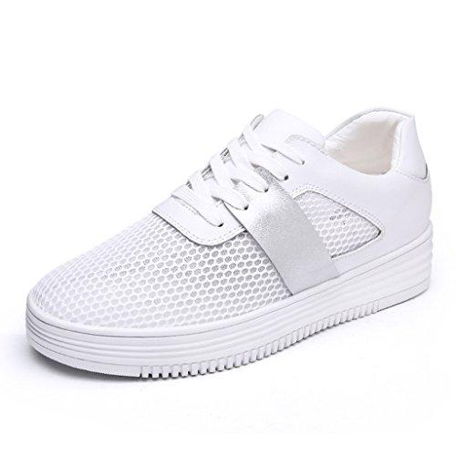 femeninos de Color 39 HWF plana de ocasionales planos la de hembra placa del Zapatos la estudiante respirables malla del para la Blanco zapatos verano Escoja Zapatos Blanco mujer los Tamaño xrw4wIq0Yf