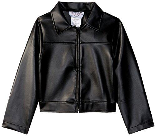 Charades Child's Fifties Thunder Bird Costume Jacket, Black, Medium -