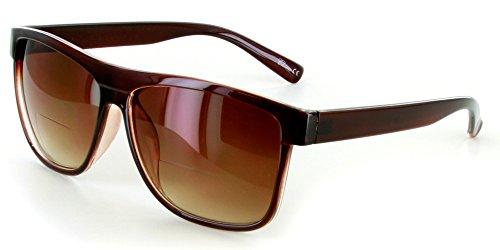 """Hipsters"" Extra Dark Bifocal Sunglasses with Designer Retro"