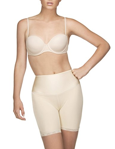 Vedette Womens 204 Dominique Mid Thigh Panty Short Shapewear (2XL (42), Nude)