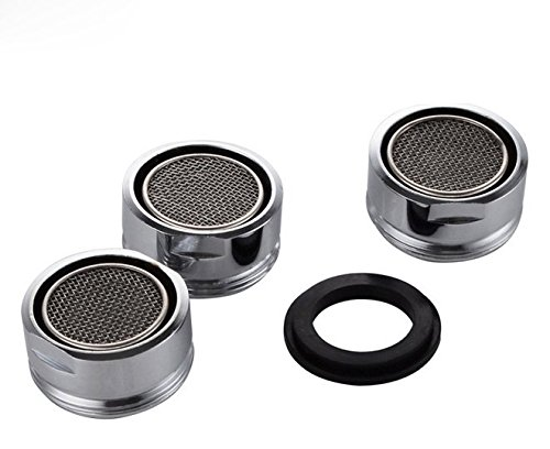 3 Packs Low Flow Faucet Aerator - 24 mm Male Thread Faucet Bubbler Sink Aerator/Laminar Bubble Water Saving Faucet Aerator with Gasket for Kitchen and Bathroom. (Best Low Flow Faucet Aerator)
