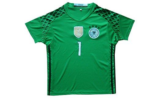27b9c4993 GERMANY NEUER  1 Goalie Football Soccer Kids Goalkeeper Jersey Short Socks  Set Youth Sizes (