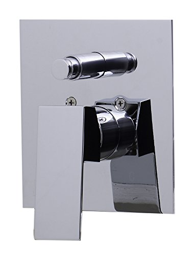 ALFI brand AB5601 Shower Valve Mixer with Square Lever Handle and Diverter, Polished Chrome